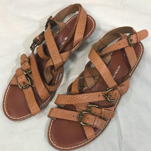 e9709d7ec GAP Shoes - Gap Buckle City leather strappy sandals